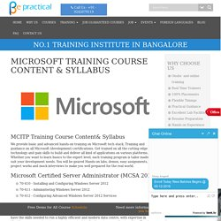 Microsoft certification training in Bangalore