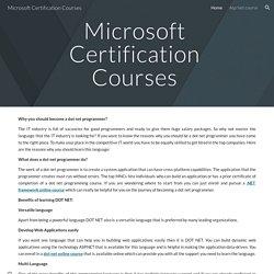 Microsoft Certification Courses