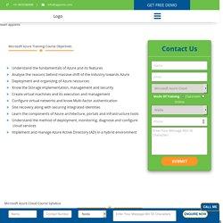 Microsoft Azure Training In Noida - Certification,Request DEMO Class