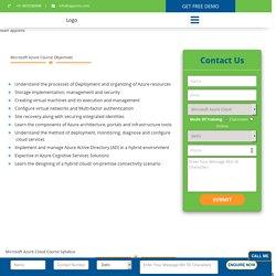 Microsoft Azure Training In Delhi - Certification,Request DEMO Class