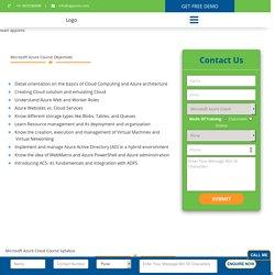 Microsoft Azure Training In Pune - Certification,Request DEMO Class