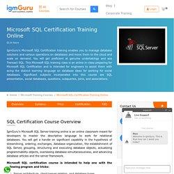 Microsoft SQL Certification Course - IgmGuru