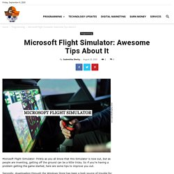 Microsoft Flight Simulator: Awesome Tips About It Challenging Coder