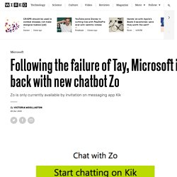 Microsoft chatbot Zo is a censored version of Tay