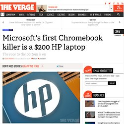 Microsoft's first Chromebook killer is a $200 HP laptop