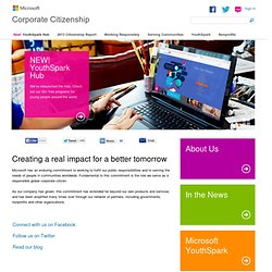 MSFT: Corporate Citizenship