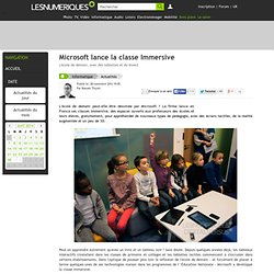 Microsoft lance la classe Immersive