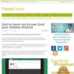 Microsoft lance un clavier pour Excel (pour Android)