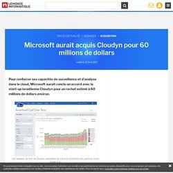 Microsoft aurait acquis Cloudyn pour 60 millions de dollars