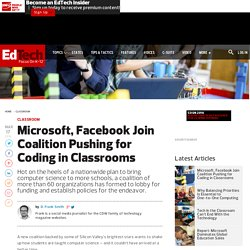 Microsoft, Facebook Join Coalition Pushing for Coding in Classrooms