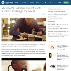 Microsoft's Collective Project wants students to change the world