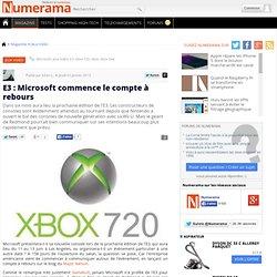 E3 : Microsoft commence le compte à rebours