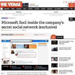Microsoft Socl: inside the company's secret social network (exclusive)