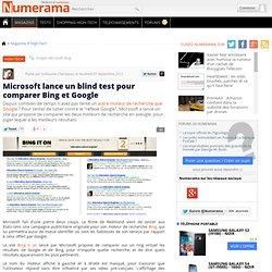 Microsoft lance un blind test pour comparer Bing et Google
