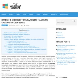 [GUIDE] Fix Microsoft Compatibility Telemetry Causing 100% Disk Usage
