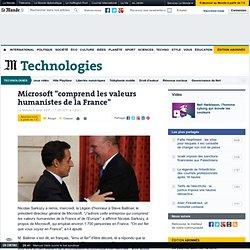 """Microsoft """"comprend les valeurs humanistes de la France"""""""