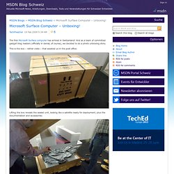 Swiss MSDN Team Blog : Microsoft Surface Computer Unboxing!