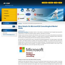 More Details On Microsoft BI ConsultingAnd Market Shifts