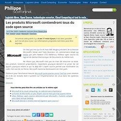 Les produits Microsoft contiendont tous du code open source