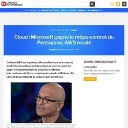 Cloud : Microsoft gagne le méga-contrat du Pentagone, AWS recalé
