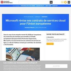 Microsoft révise ses contrats de services cloud pour l'Union européenne