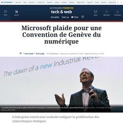Microsoft plaide pour une Convention de Genève du numérique