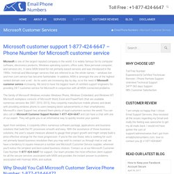 Microsoft Office Customer Service Number 1-877-424-6647