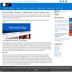 Microsoft Edge –Windows 10 Web Browser and its Customer Help - Windows Technical Support