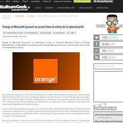 Orange et Microsoft passent un accord dans le milieu de la cybersécurité