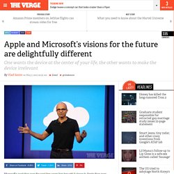 Apple and Microsoft's visions for the future are delightfully different