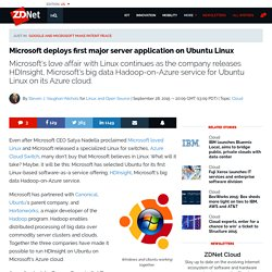 ​Microsoft deploys first major server application on Ubuntu Linux