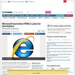 Microsoft launches HTML5 Labs for developers