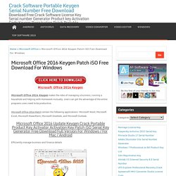 Microsoft Office 2016 Keygen Free Download