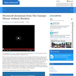 Microsoft download from The Garage: Mouse without Borders - Next at Microsoft