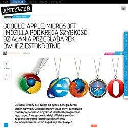 Google, Apple, Microsoft i Mozilla podkręcą szybkość działania przeglądarek dwudziestokrotnie