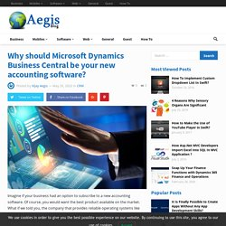Microsoft Dynamic 365 business central be your new accounting software?