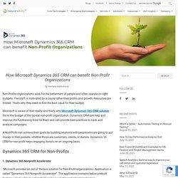 How Microsoft Dynamics 365 CRM Can Benefit Non Profit