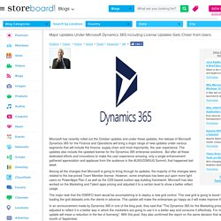 Top Updates Under Microsoft Dynamics 365