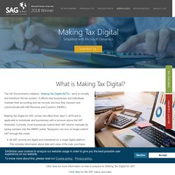 Making Tax Digital with Microsoft Dynamics 365 for Finance & Operations