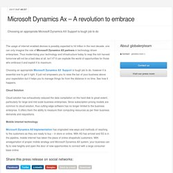 Microsoft Dynamics Ax – A revolution to embrace
