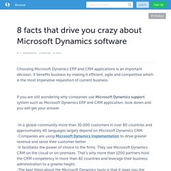 8 facts that drive you crazy about Microsoft Dynamics software