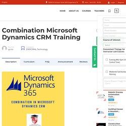 Microsoft MS Dynamics CRM Training Classes