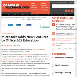 Microsoft Adds New Features to Office 365 Education