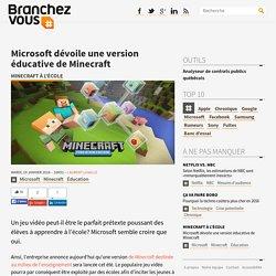 Microsoft dévoile une version éducative de Minecraft