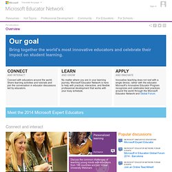Microsoft Educator Network - For educators : Overview