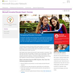 Microsoft Educator Network - Educator Programs : Overview