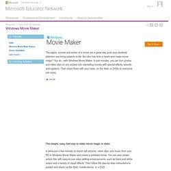 Free Tools For Teachers : Windows Movie Maker