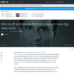 Microsoft embraces Python, Linux in new big data tools