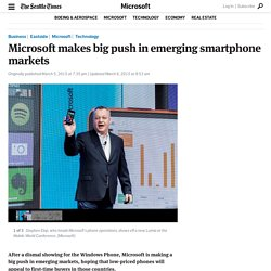 Microsoft makes big push in emerging smartphone markets