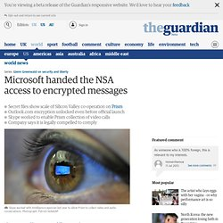 Revealed: how Microsoft handed the NSA access to encrypted messages